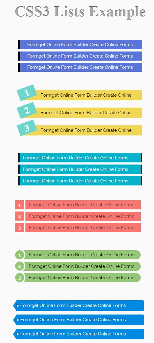 CSS List(Liste)